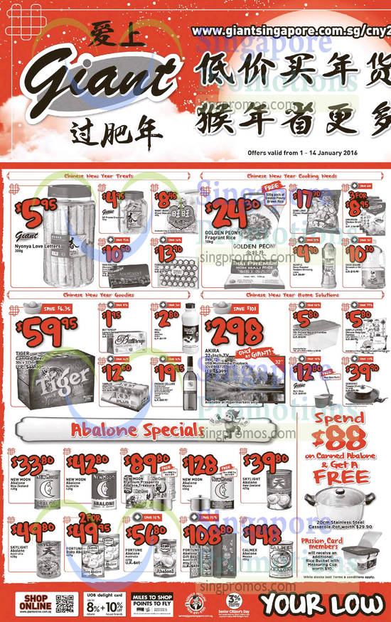 Abalone Specials, Treats, Cooking Needs, Goodies, Home Solutions