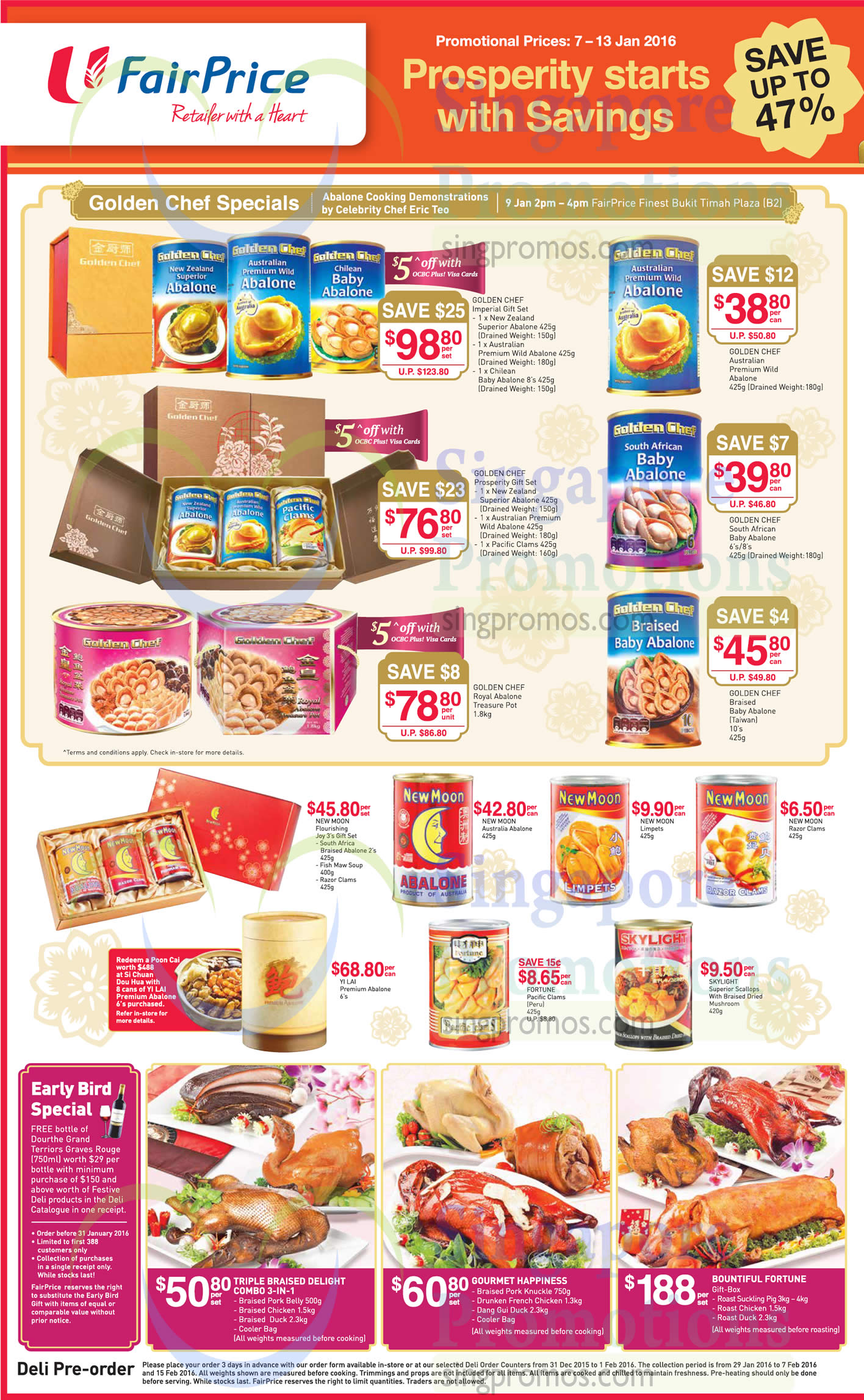 Fairprice Abalones New Moon Golden Chef Skylight Cny