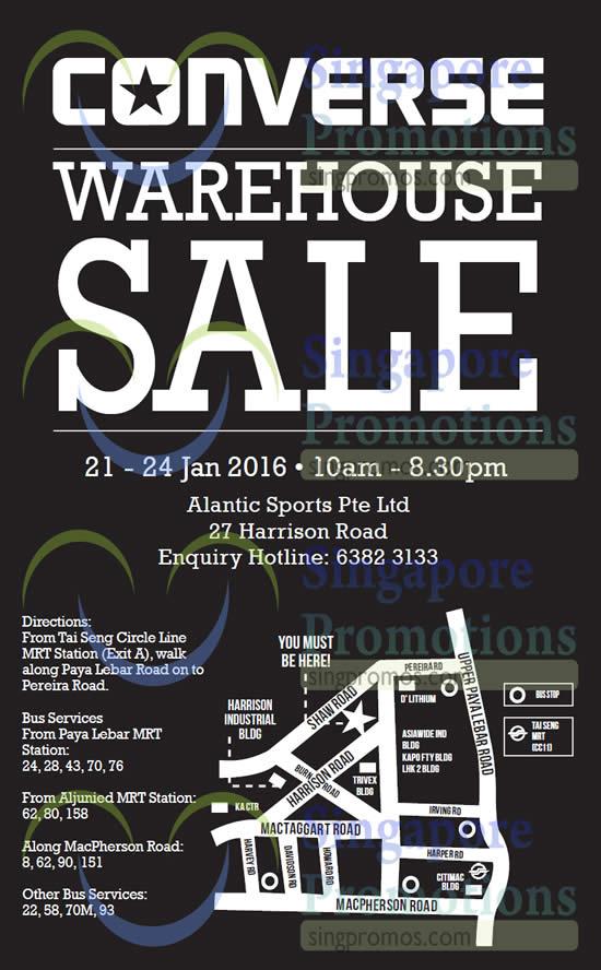 4a08aa57e3f3 Converse Warehouse Sale 21 – 24 Jan 2016