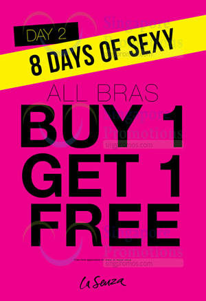 Featured image for La Senza 1-FOR-1 Buy 1 Get 1 FREE Bras 1-Day Promotion 31 Jan 2016