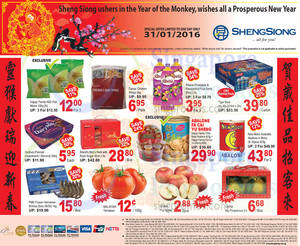Featured image for Sheng Siong 1-Day CNY Specials (New Moon, Happy Family, Cadbury & More) 31 Jan 2016