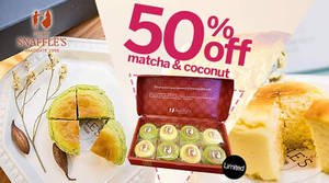 Featured image for Snaffles 50% Off 8pcs Catchcakes (Matcha & Coconut) Deal 30 Jan – 7 Feb 2016