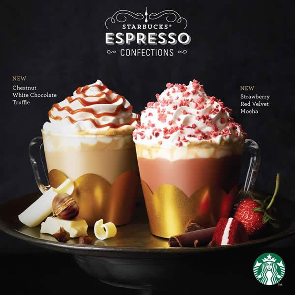 Starbucks New Year Beverages, Valentine's Day Collection
