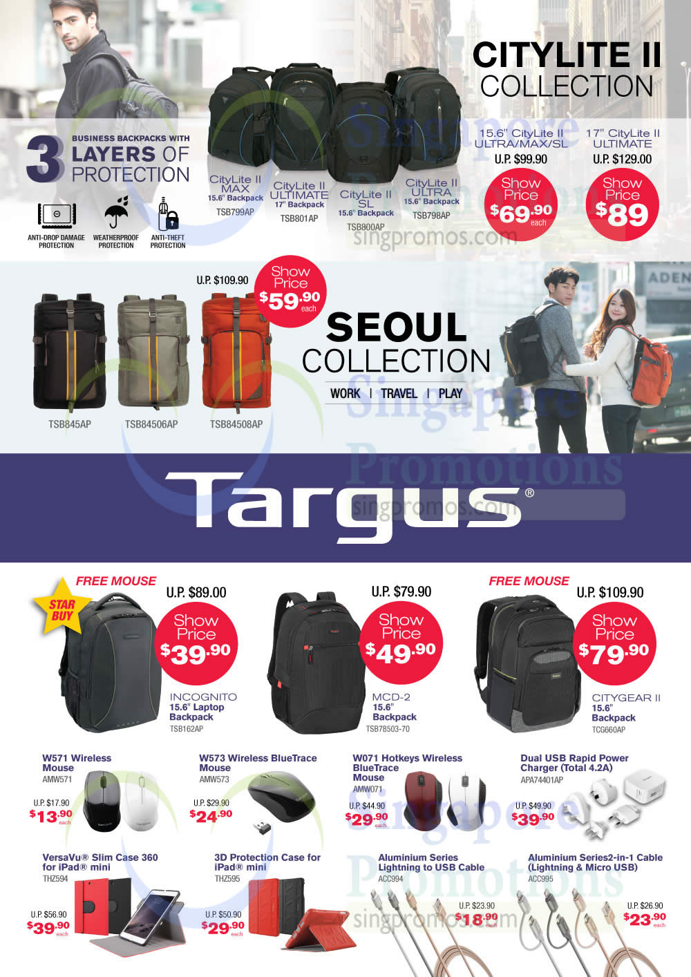 Targus Bags, Mouse, Case, Citylite II Collection