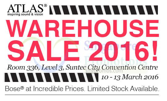 Featured image for Atlas (Bose) Warehouse Sale @ Suntec 11 - 13 Mar 2016