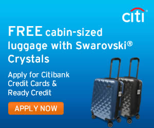 eef448d00f3 Citibank Credit Cards Apply & Get FREE Cabin-Sized Luggage with Swarovski  Crystal From 1 Feb 2016 UPDATED 15 Feb 2016