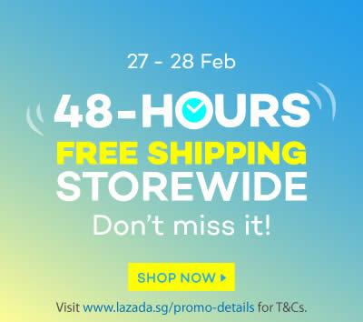 Lazada Free Shipping Storewide 48hr Promo 27 – 28 Feb 2016