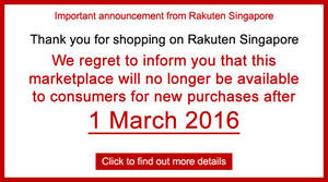 Featured image for Rakuten Singapore Marketplace Closing From 1 Mar 2016