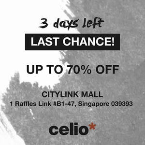 Featured image for celio* Up To 70% Off @ City Link Mall 24 – 27 Feb 2016