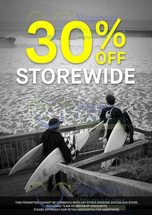 Featured image for Billabong 30% Off Storewide 26 – 27 Mar 2016
