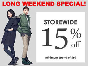 Featured image for Coldwear 15% Off Storewide 24 – 27 Mar 2016