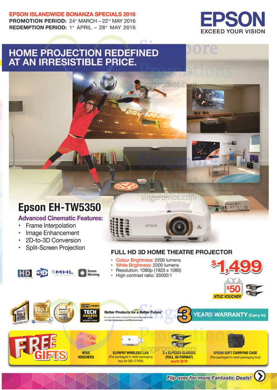 Epson EH-TW5350 3D Home Projector