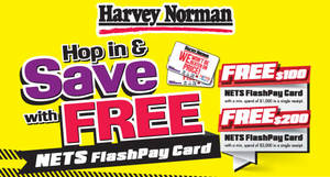 Featured image for Harvey Norman Free $100 Nets FlashPay Card From 24 Mar 2016
