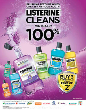 Featured image for Listerine Buy 2 Get 1 Free Promo From 3 Mar 2016