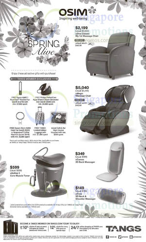 Featured image for Osim Promo Offers @ Tangs 24 Mar – 14 Apr 2016