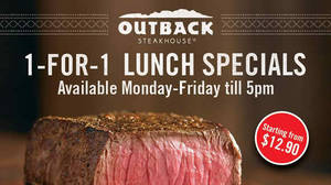Featured image for Outback Steakhouse 1-for-1 Lunch Weekday Specials 18 – 31 Mar 2016