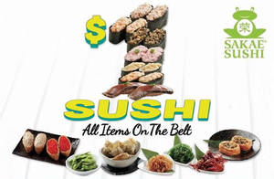 Featured image for Sakae Sushi $1 Everything on Belt @ 6 Outlets From 7 Mar 2016