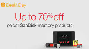 Featured image for SanDisk Up To 70% Off Memory Products 24hr Promo 14 – 15 Mar 2016
