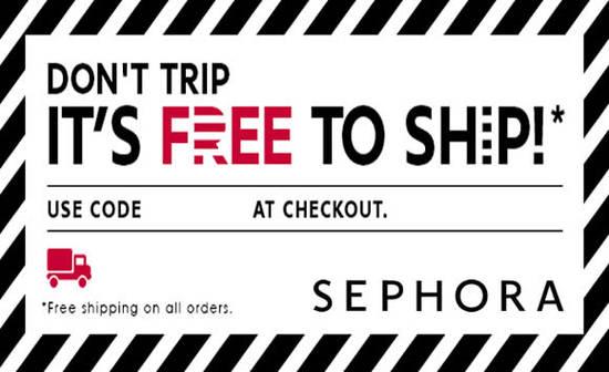 Sephora Free Shipping 18 Mar 2016