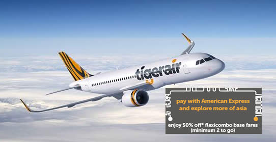 Tigerair 50 Off Flexicombo Fares For Amex Cardmembers 28