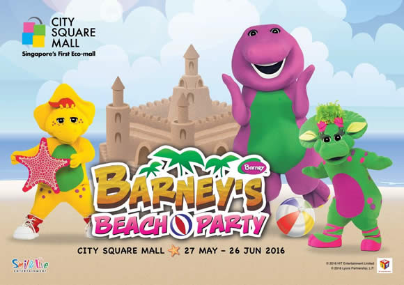 City Square Mall Barney's Beach Party, Sandcastle Display ...