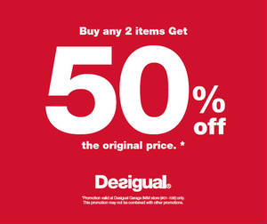 Featured image for Desigual 50% Off @ IMM From 8 Apr 2016