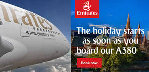 Featured image for Emirates: Fares fr $435 all-in to over 100 Destinations from 21 Jul – 4 Aug 2016