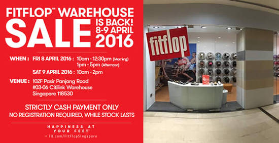 FitFlop Warehouse Sale Feat 5 Apr 2016