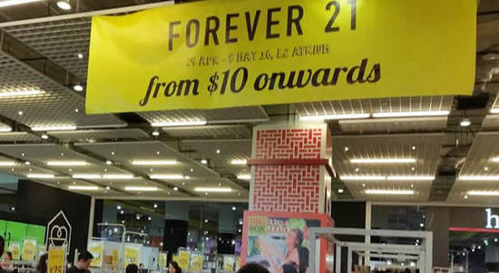 Forever 21 Feat 30 Apr 2016