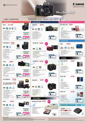 Featured image for Canon Digital Cameras Promo Offers 1 – 30 Apr 2016