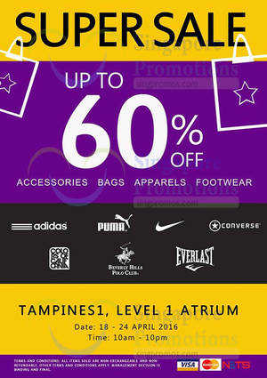 Super Sale Up to 60% Off   Tampines 1 from 18 – 24 Apr 2016 f3ec11765