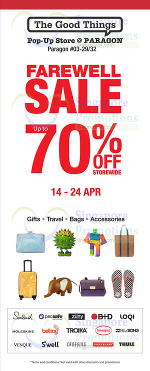 aa59d2ab422edd The Good Things Paragon Pop-Up Store Farewell Sale 14 – 24 Apr 2016