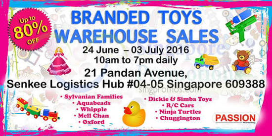Branded Toys Warehouse 25 May 2016