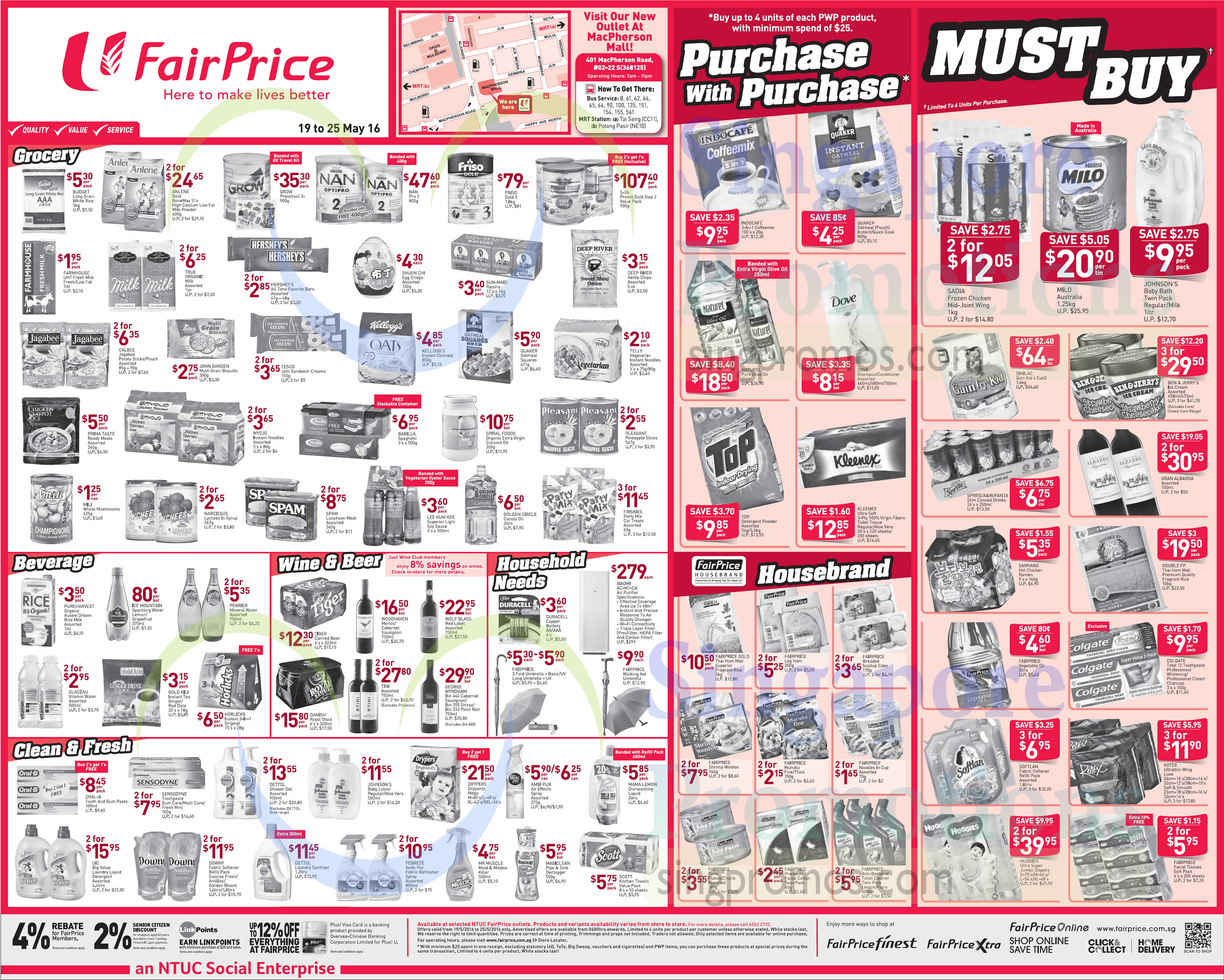 Fairprice Weekly Deals 19 May 2016