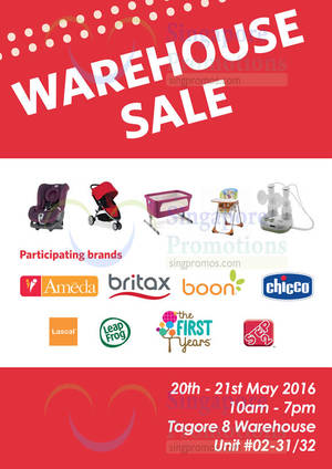 Featured image for Infantree Branded Baby Items Warehouse Sale from 20 – 21 May 2016