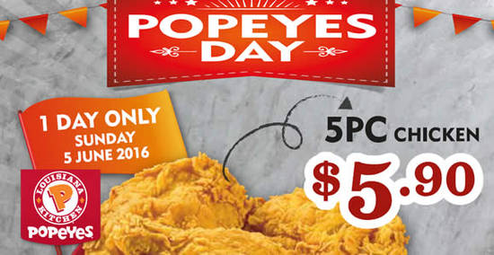 Popeyes Feat 23 May 2016