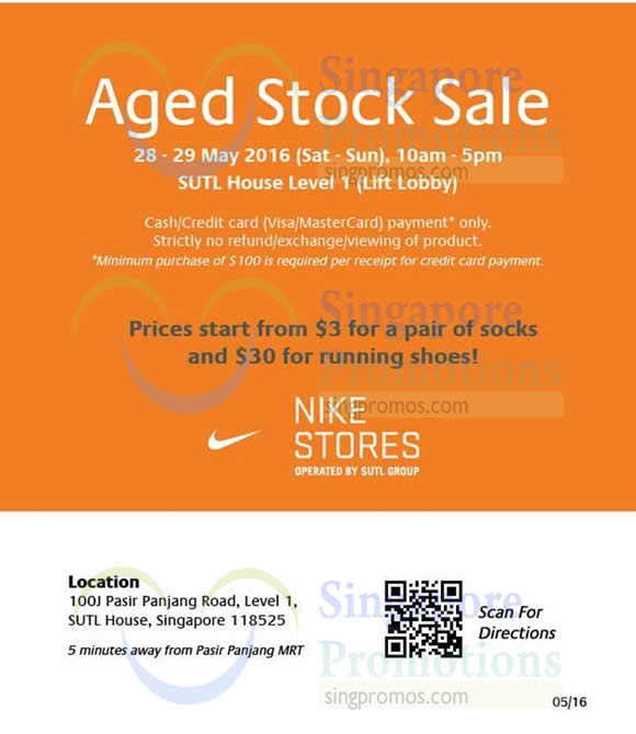 6d474b7c0e5bf1 SUTL NIKE Clearance of Aged Stock Sale from 28 – 29 May 2016