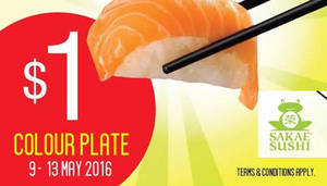 Featured image for Sakae Sushi $1 Colour Plate Promotion from 9 – 13 May 2016