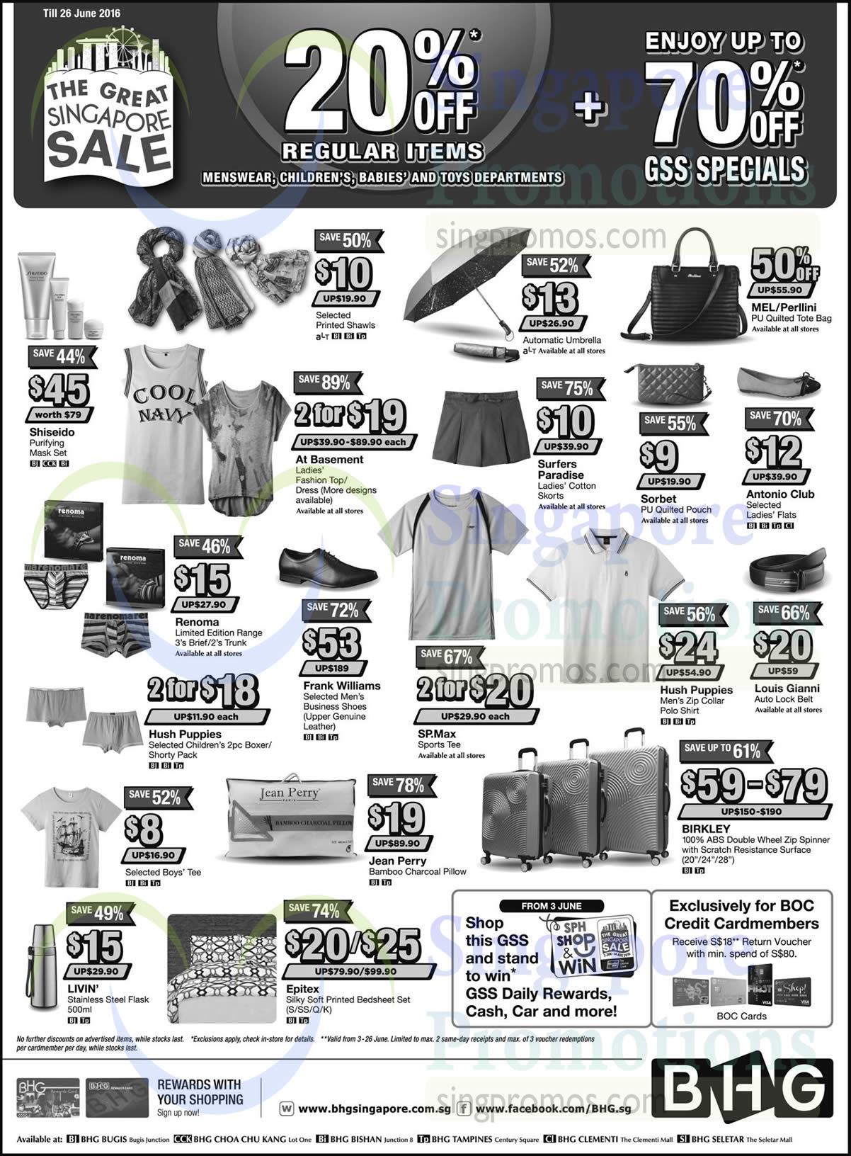 Bhg 3 jun 2016 bhg 20 off regular items selected for Bhg shopping