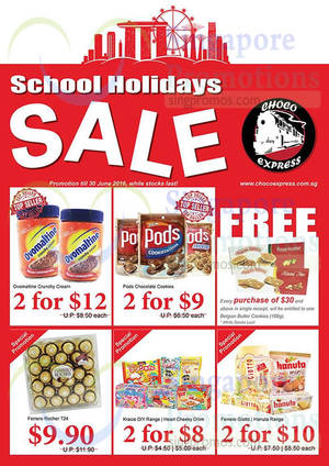 Featured image for Choco Express Chocolates School Holiday Sale from 1 – 30 Jun 2016