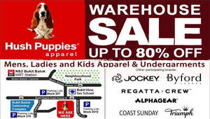 Hush Puppies Warehouse Sale up to 80% Off from 30 Jun – 10 Jul 2016 480370d410