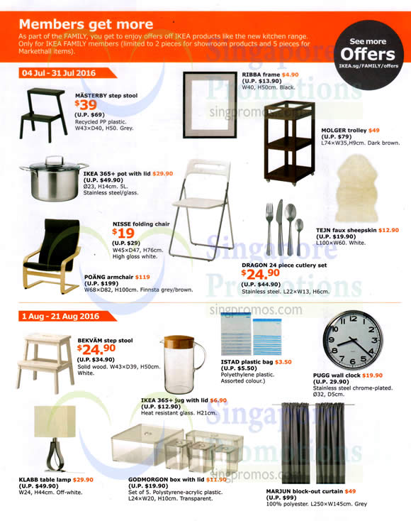 Ikea Special Deals Offers From 4 31 Jul 2016
