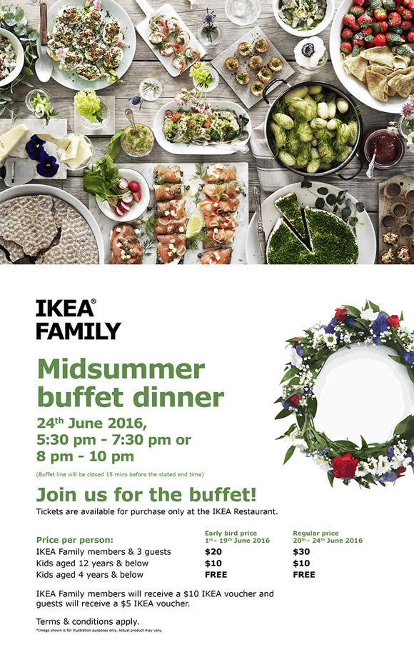 IKEA $20 Swedish Midsummer Buffet Early Bird Tickets Available from
