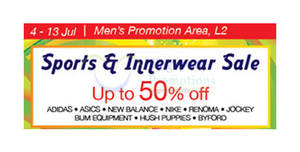 Isetan Sports   Innerwear Sale at Parkway Parade from 4 – 13 Jul 2016 99fb463e56