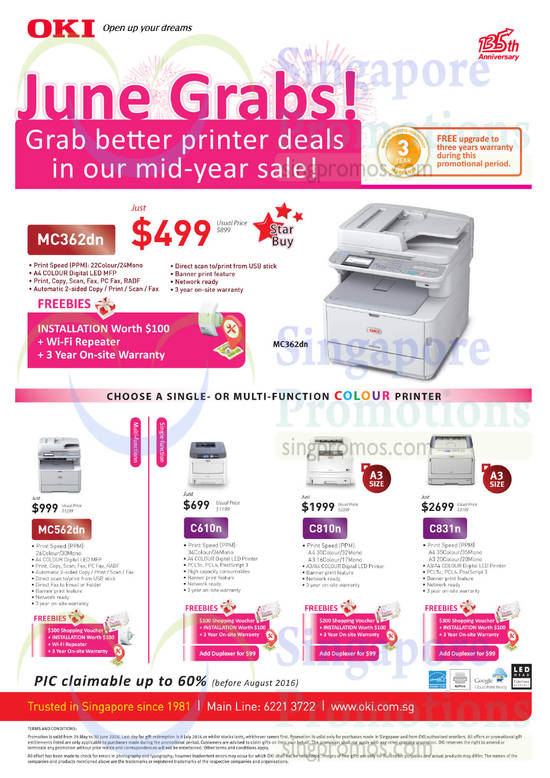 Single, Multi Function Colour Printer
