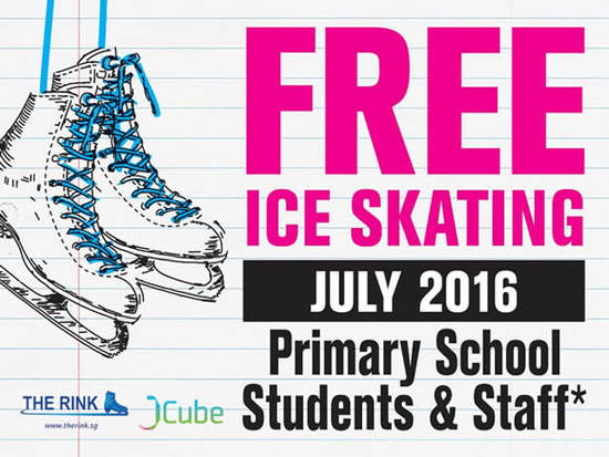 Featured image for The Rink Free Ice Skating Admission For Primary Students & Staff from 1 - 31 Jul 2016
