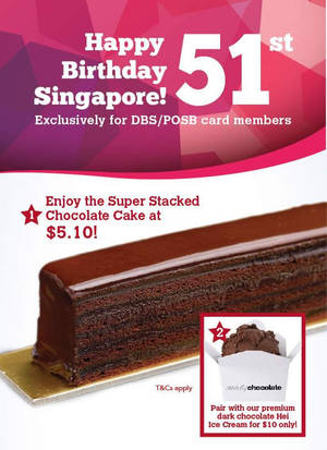 Featured image for Awfully Chocolate: Super Stacked Chocolcate Cake Promo for DBS/POSB from 1 – 31 Aug 2016