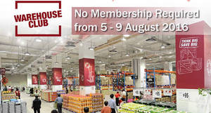 Featured image for FairPrice Warehouse Club: Open House – NO Membership Required from 5 – 9 Aug 2016
