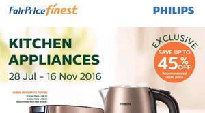 Featured image for Fairprice Finest: Spend & Redeem Philips Kitchen Appliances from 28 Jul – 16 Nov 2016
