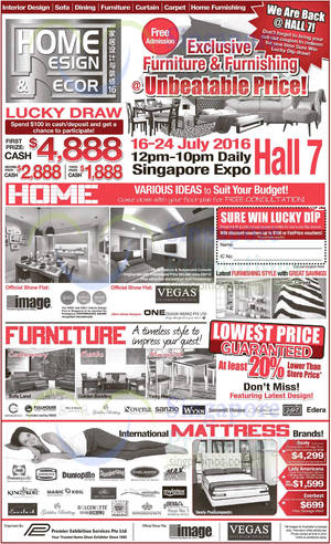 Home Design Decor Tagged Posts Oct 40 SINGPromos Extraordinary Home Design And Decor Expo